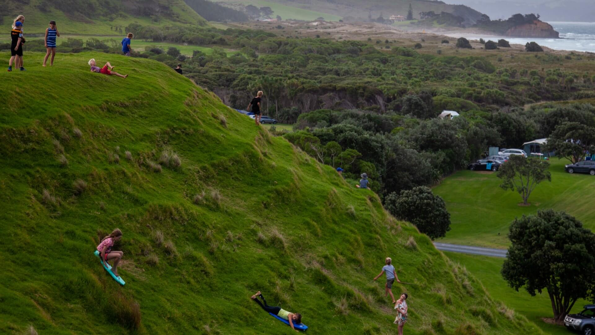 Tawharanui Walking Family Walks including with people with tiny legs